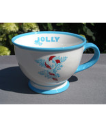 2007 Holiday Starbucks Coffee Mug 10 oz Candy Cane Jolly Ceramic - $21.73