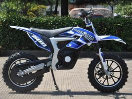 Electric Dirt Bike MotoTec 36V 500W Lithium Blue Motorcycle 3 Speeds Key Lock image 2