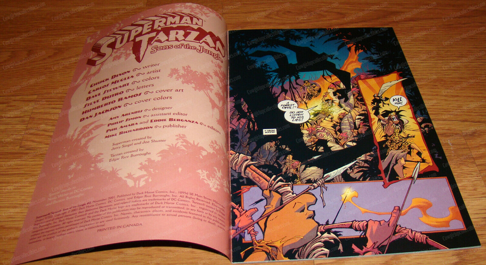 Superman Tarzan (DC, Dark Horse Comics, Nov 2001) 2 of 3 (NM) Sons of the Jungle - $9.90