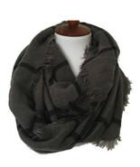 NWT Octavia Dustin Gray Window Pane Plaid Knit Infinity Loop Scarf OS On... - $12.99