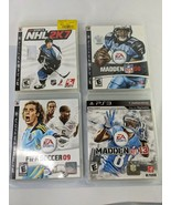 PS3 Madden NFL 08 13 FIFA Soccer 09 NHL 2K7 Game Playstation 3 Lot - $19.95