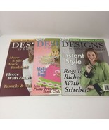 3 Issues of Designs in Machine Embroidery Magazine 2005 - $14.50