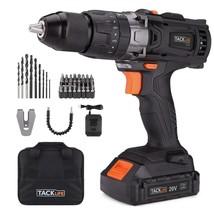 """Tacklife PCD04B 20V MAX 1/2"""" Cordless Drill Driver Set with Hammer Funct... - $102.06"""