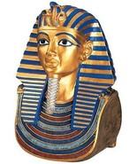 Large Death Mask of Egyptian Pharaoh Tutankhamun Boy King Golden Sculpur... - $138.55