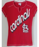 St Louis Cardinals Campus Lifestyle MLB Baseball Shirt Womens Sz Small R... - $17.61