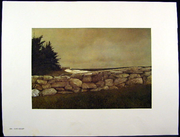 Andrew Wyeth Gravure Print THE SWEEP & BELOW DOVER, Maine