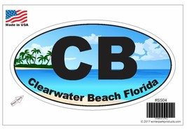 Clearwater Beach Florida Oval Bumper Sticker SS04 Wholesale - $2.99+