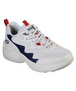 NWT Womens SKECHERS Bobs Primo Popsicle Sneaker Comfort Shoes Natural Navy 33122 - $56.00