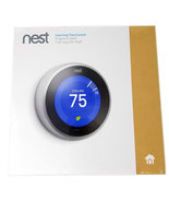 Nest 3rd Generation Learning Stainless Steel Programmable Thermostat T30... - $217.64