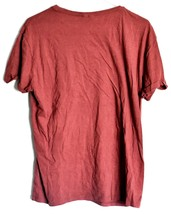 Divided by H&M Men's Heathered Maroon Crew Neck Short Sleeve T-Shirt Size L image 2