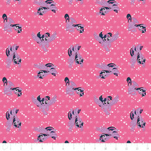 My Little Pony Twilight Sparkle Pink Camelot 100% cotton fabric by the yard - $14.69
