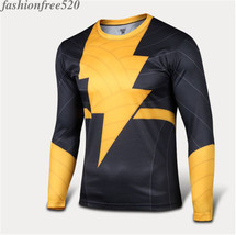 Marvel Flash Mens O-Neck T-shirts Fitness Sports Casual Tees Cyling Jersey Tops - $11.39