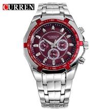 Top Brand Luxury Watch CURREN Casual Military Quartz Sports Wristwatch Full Stee - $29.06