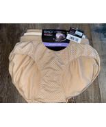 Bali ~ 3-Pair Womens Hipster Underwear Panties Stretch Nylon Hip Hugger ... - $23.36