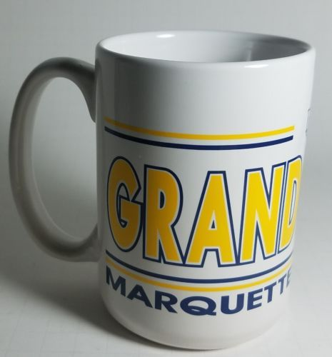 Marquette University Grandparents tall Coffee mug 4 1/2 inches Ceramic MU Cup