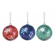 Holiday Dazzle Ornament Trio - $16.95