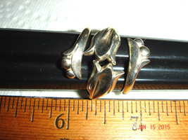 VTG 70s 925 STERLING SILVER AVON ADJUSTABLE FLORAL FLOWER LILY WRAP RING... - $147.99
