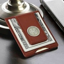 Engraved Brown Leather Wallet and Money Clip Engraved Gifts Personalized... - $39.64