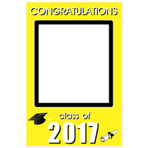 Graduation Class of 2017 Yellow Selfie Frame Social Media Poster - $16.34+