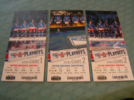 2008 NEW YORK RANGERS NHL STANLEY CUP PLAYOFFS TICKET STUBS LOT OF (3) - $19.75
