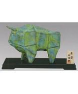 Bull ox zodiac ornaments stutie takaoka metal craft japan love gallant f... - $202.12