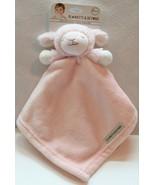 Plush Baby-Thro Nunu Pink Girl Monkey Large Embossed Security Blanket Lovey NWT