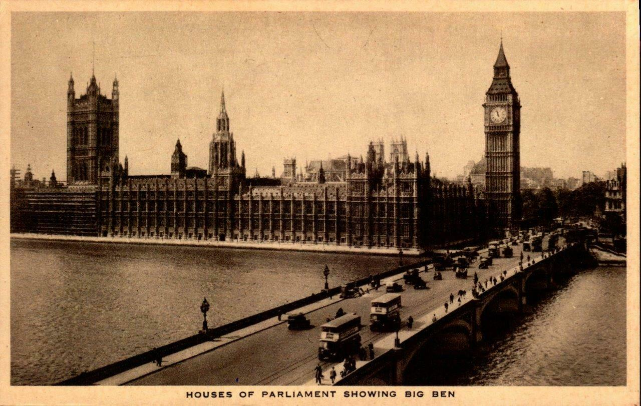 Primary image for VINTAGE PHOTO POSTCARD -HOUSE OF PARLIAMENT SHOWING BIG BEN,UNITED KINGDOM  BK20