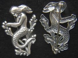 WWII Submariner's Sterling Mermaid Sweetheart Pin    - $60.00