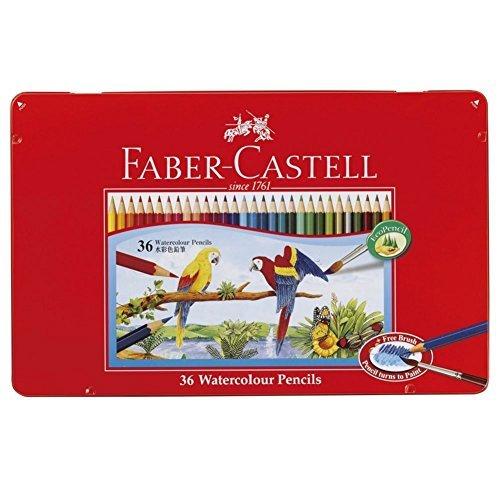 Faber-castell Watercolor Pencils Flat Cans 36 Color Set TFC-WCP/36 C