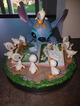 Extremely Rare! Walt Disney Lilo & Stitch Reading with Ducks Figurine Statue  - $742.50