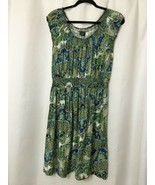 FADED GLORY PAISLEY FLORAL PEASANT DRESS RAYON SIZE LARGE 12-14 - $10.84