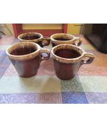 Vintage Hall Brown Coffee Mugs Set Of Four - $19.99