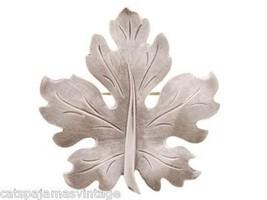 Vintage Sterling Silver Leaf Brooch Beau Sterling Large - $35.00