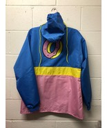 new Odd Future Color Block Yellow, Pink & Blue Anorak Jacket Windbreaker... - $36.99