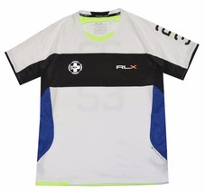 RLX Ralph Lauren Men Colorblock Crew Neck Logo T-shirt (Small, Pure white) - $32.66