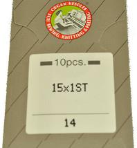 Organ Sewing Machine Sharp Point Needles Size 14 15X1ST-90 - $6.63