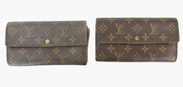 Authentic LOUIS VUITTON Monogram Sarah Long Wallet 2 pc Set #38527 - $175.00