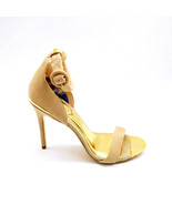 Ted Baker Womans Rynne Ankle Strap High Heels Beige Suede Open Toe Sz 6 M - $89.09
