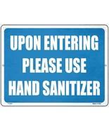 Please Use Hand Sanitizer Novelty Metal Parking Sign - $21.95