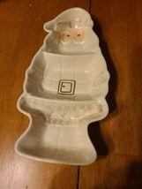 """Lenox Santa's Visit Christmas Holiday Santa Candy Snack Dish Tray Platter 9.25"""" - $25.00"""