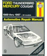 Haynes Repair Manual 86086 Ford Thunderbird Mercury Cougar 1989-1997 - $13.95
