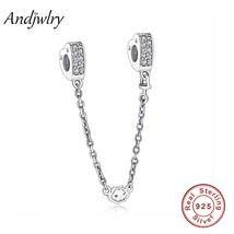 Fit Original Pandora Charms Bracelet 925 Sterling Silver White Zircon Sa... - $28.66