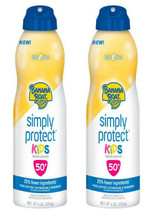 New Banana Boat Simply Protect Kids Sunscreen Lotion Spray SPF 50 Tear Free 12Oz