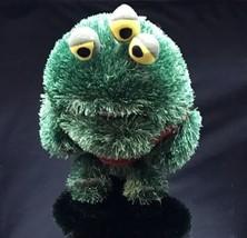 "Disney Pixar Monsters Inc University 9"" Plush Green Three Eye Rare Monster Rare - $18.46"