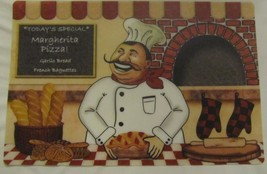 """4 FAT CHEF KITCHEN DECOR VINYL SEMI CLEAR PLACEMATS 12""""x 18"""", FREE SHIPPING - $10.88"""