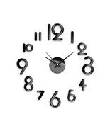 NEW! DIY SELF ADHESIVE WALL CLOCK DO IT YOURSELF 3D INTERIOR TIME CLOCK ... - $16.78