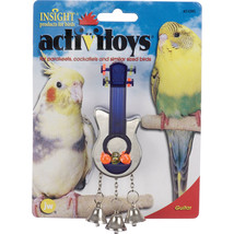 JW Blue/silver Activitoys Guitar Bird Toy 4x5.5x2.5 In 618940310907 - £12.39 GBP