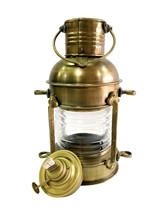 "10"" ANTIQUE LIGHTHOUSE LANTERN ~ BRASS OIL HANGING SHIP LAMP HOME DECOR - $44.55"