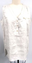 Grace Elements 100% Natural Linen High Low Tunic Gold Hardware OS $68 NWT - $47.52