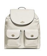 Coach Billie Backpack Pebbled Leather Chalk Light Gold Colored Hardware - $235.00